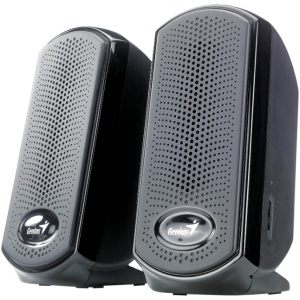 Колонки 2.0 Genius SP-U110, 2x1W black, USB